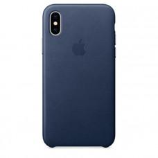 Чехол для iPhone Apple iPhone X Leather Case Midnight Blue